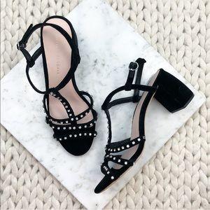 Loeffler Randall Elena Black Velvet Heels